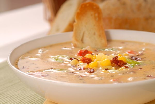 Sweet & Spicy Soup Recipe: Crunchy Bacon Chili Corn Chowder