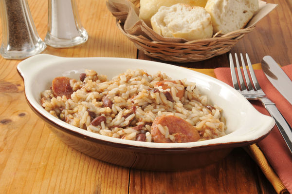 Hearty Cajun-Inspired Dish: Andouille Sausage Rice and Beans