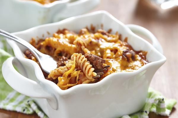 Casserole Recipe: Cheesy Tomato Sausage Pasta Bake
