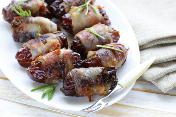 Appetizer Recipe: Bacon-Wrapped & Blue Cheese-Stuffed Dates