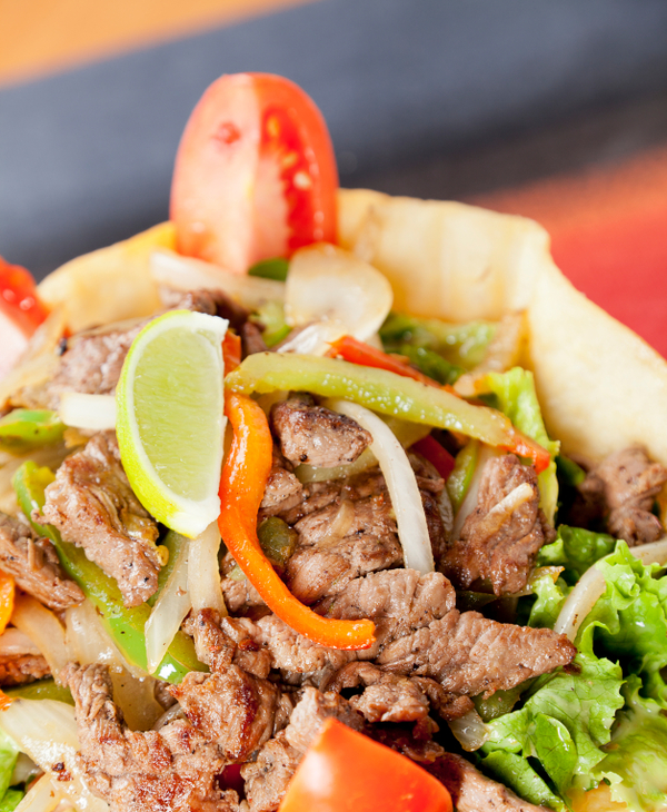 Salad Recipe: Veggie and Steak Taco Salad