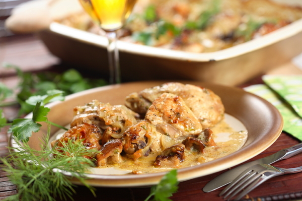 Fancy Dinner Recipe: Creamy Three Mushroom Chicken Casserole
