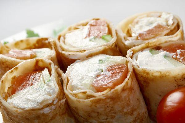 Creative Crepe Recipe: Smoked Salmon & Cream Cheese Burritos