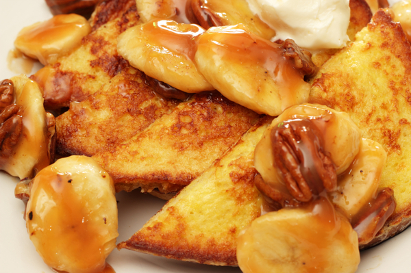Brunch Recipe: Caramelized Banana & Pecan French Toast