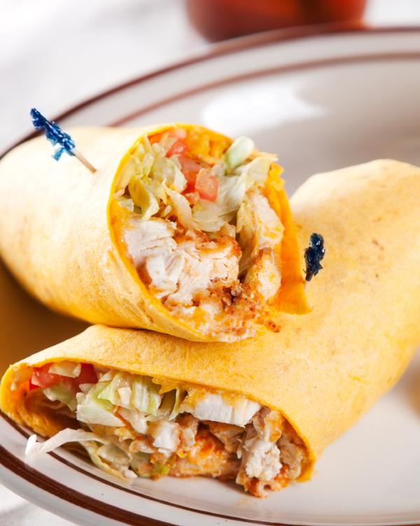 Sandwich Recipe: Buffalo Chicken Salad Wrap