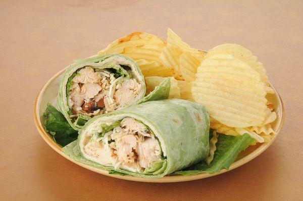 Sandwich Recipe: Grilled Chicken Caesar Tortilla Wrap