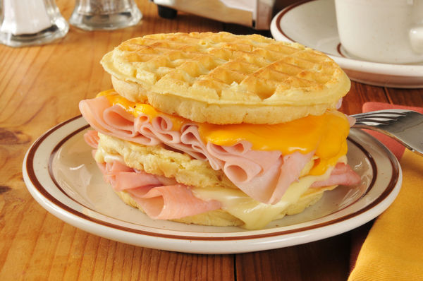Creative Recipe: Turkey, Ham & Cheese Waffle Club Sandwich