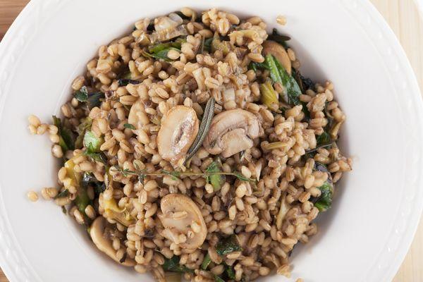 Hearty Dinner Recipe: Creamy Sage & Mushroom Barley Risotto
