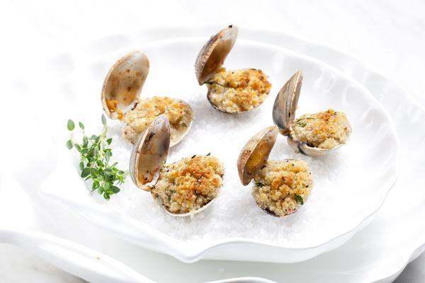 Seafood Starter Recipe: Baked Clam Gratin