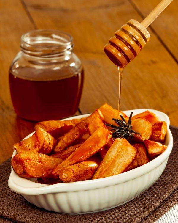 Side Dish Recipe: Honey & Brown Sugar-Glazed Roasted Parsnips