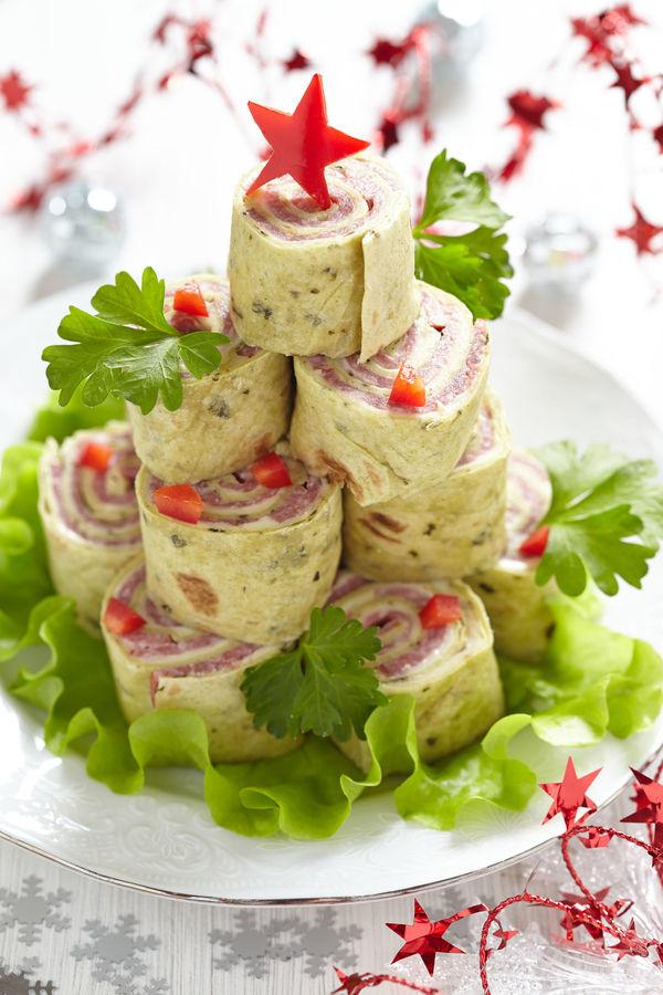 Festive Starter Recipe: Stacked Ham And Cheese Pinwheel Wraps