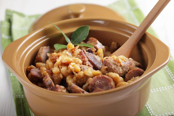 Simple Slow Cooker Dinner: Pork Loin And Sausage Cassoulet