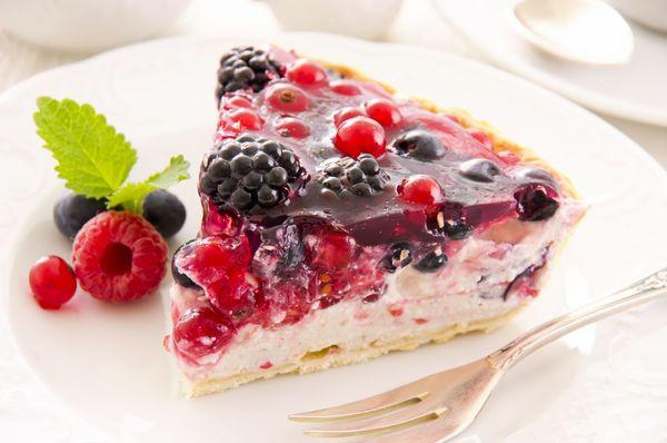 Berries Of The Forest Dessert: Ricotta And Honey Fruit Tart