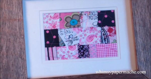 The Cutest Scrap Quilt Project: Framed Memento Quilt