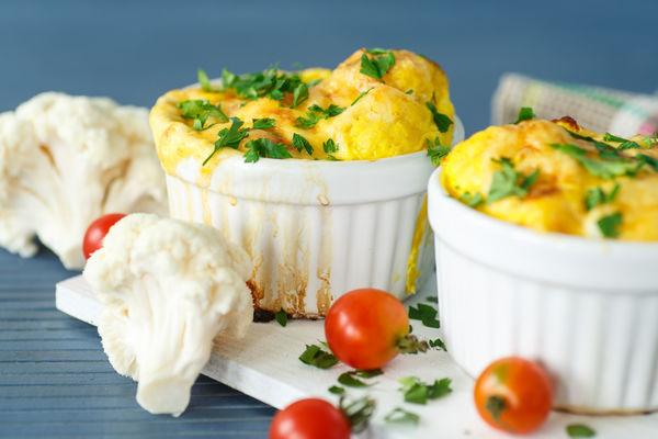 Healthy Breakfast Bites: Mini Cheesy Cauliflower Omelettes