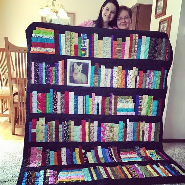 The Perfect Keepsake: Bookshelf Memory Quilt