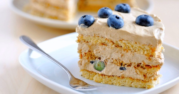 You're Going To Love This Espresso and Blueberry Buttercream Coffee Cake!