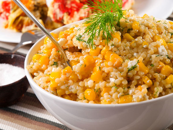 Perfect Use For Summer's Golden Gift Sweet Corn Couscous Salad