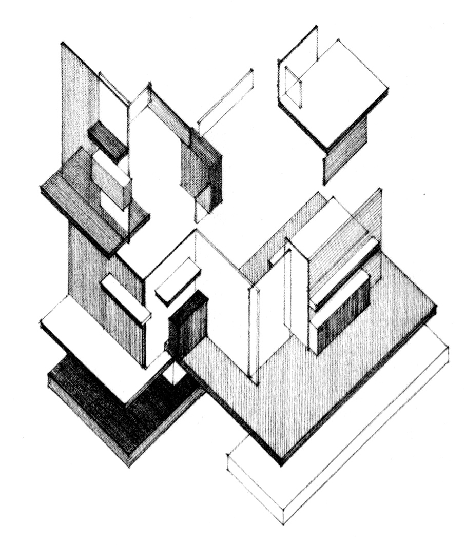 Axonometric drawing the image kid has it for Architecture oblique