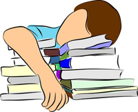 Student just gives up and quits on his homework