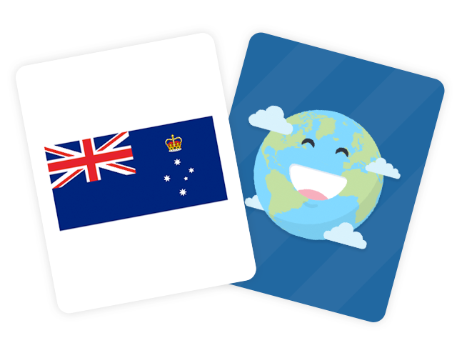 Australian States and Territories Flags Flashcards