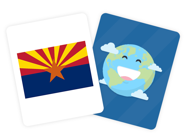 50 US State Flags Flashcards