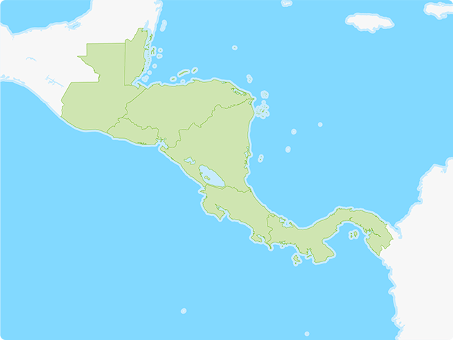 Central America Map Quiz Game | Free Study Maps