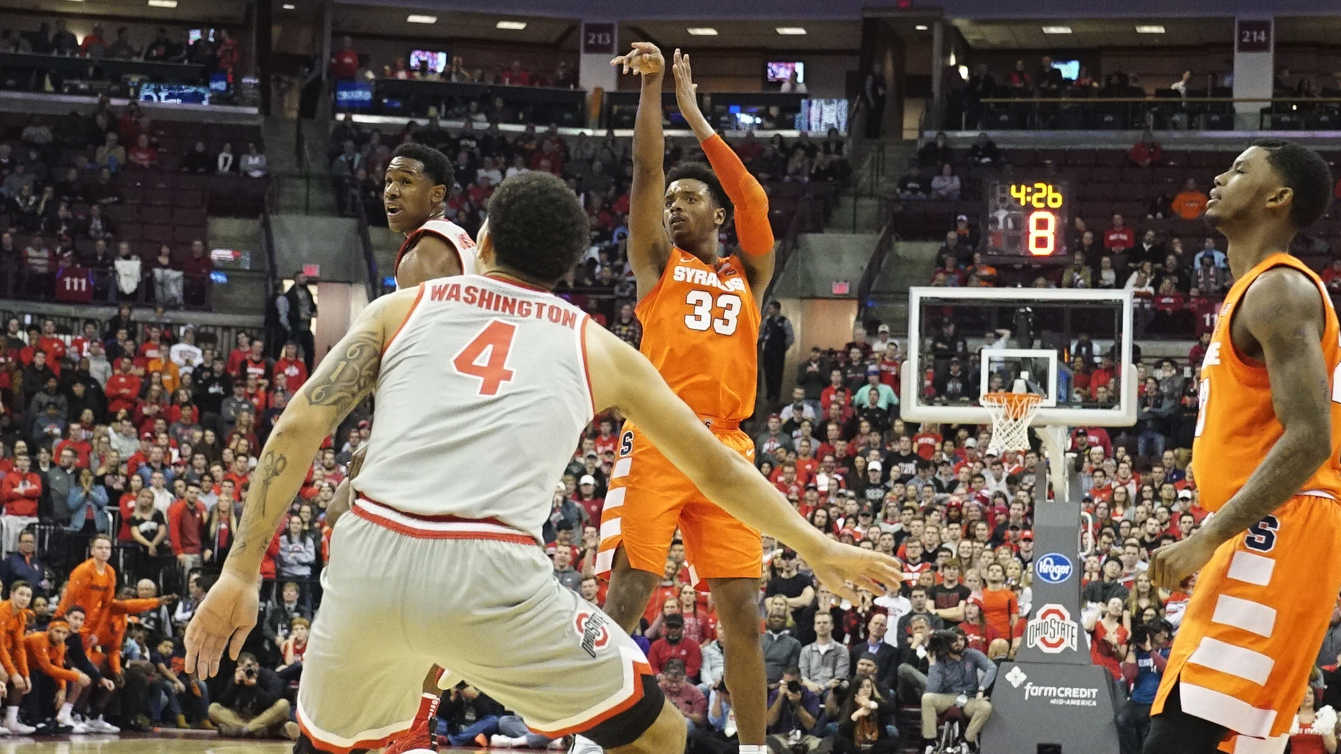 Strong Second Half Pushes Orange Past 16 Ohio State Syracuse