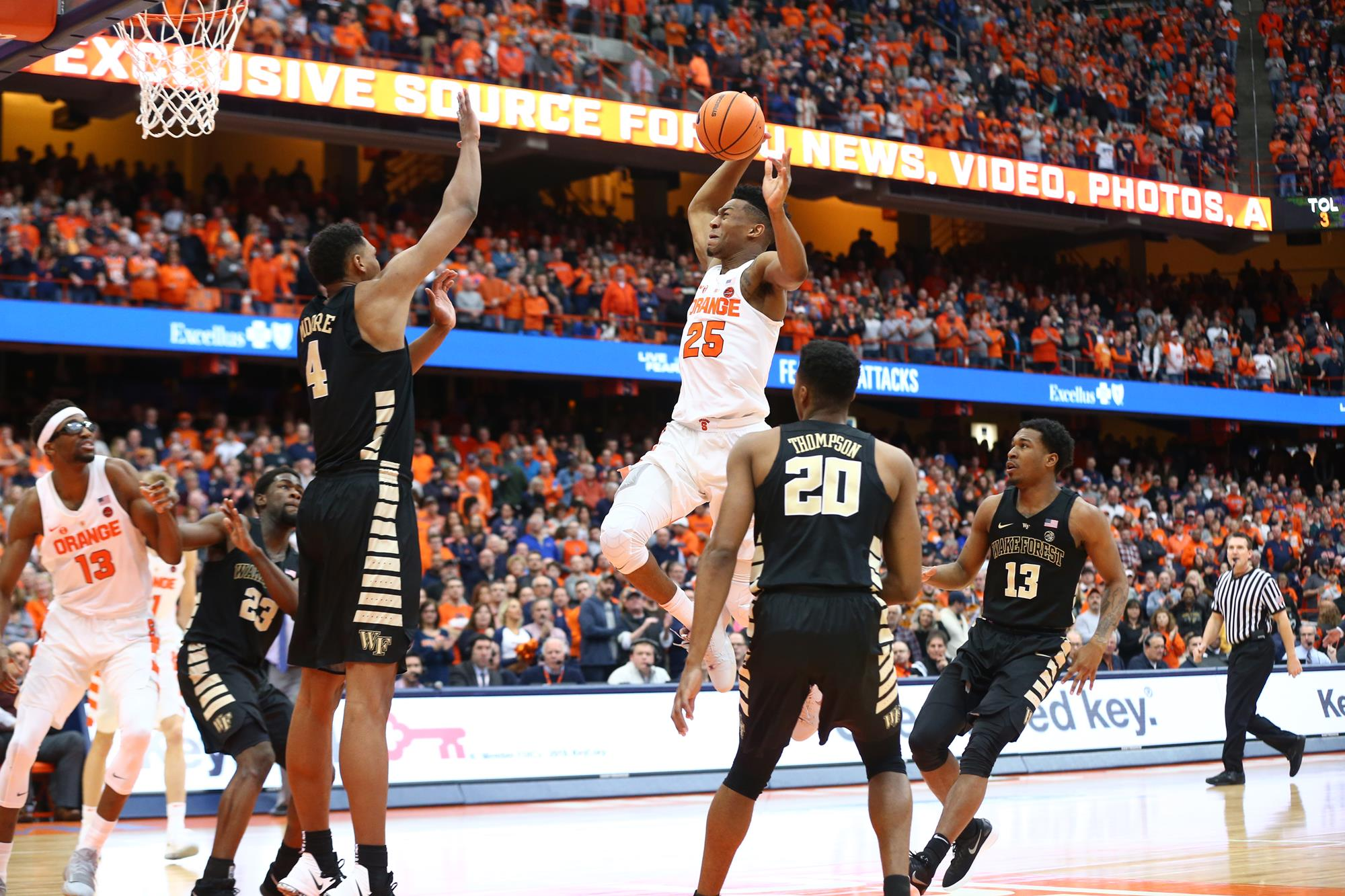 Battle Leads Orange Past Wake Forest Syracuse University Athletics