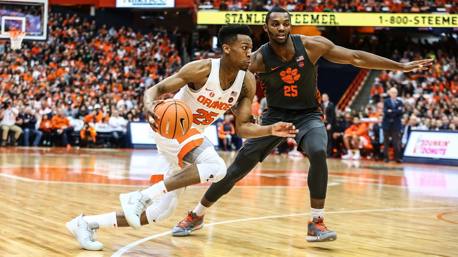 Orange Edges 18 Clemson 55 52 Syracuse University Athletics