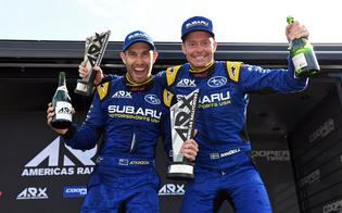 Subaru drivers Chris Atkinson and Patrik Sandell finished second and third on the driver's championship after Atkinson picked up the Mid-Ohio event victory and Sandell took the third-place spot.
