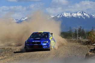 17-year old Oliver Solberg earned his first American rally victory at the 2019 DirtFish Olympus Rally. Photo credit: Lars Gange / Subaru Motorsports USA