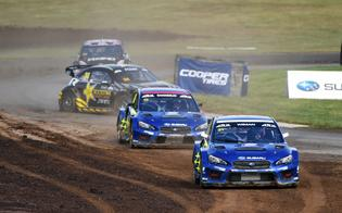 FIA World Rallycross Championship drivers Andreas Bakkerud and Joni Wiman, joining Subaru for the final two rounds of the ARX season, qualified well and joined Atkinson and Sandell in the final.