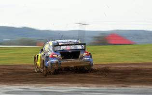 Subaru Motorsports USA wrapped up the team's first-ever team rallycross title in a muddy Americas Rallycross (ARX) season finale at Mid-Ohio Sports Car Course, October 5-6.