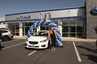 Subaru sells 10-millionth vehicle in the U.S.: Rachel Harmon (customer)