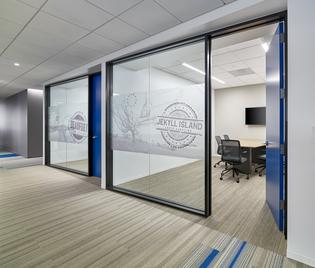 Unique meeting rooms fill the new Subaru of America facility, all designed to enhance communication, innovation, and productivity for over 500 employees. Photo credit: © Jeffrey Totaro, 2018.