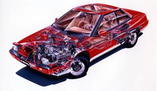 Subaru XT Production: 1985-1991   Available in three trim levels: DL, GL, and the top-of-the-line GL-10   Powered by 1.8-liter BOXER engine with 94 hp. and 101 lb-ft. of torque   Top-of-the-line XT6 model was introduced in 1990 with 2.7-liter, 6-cylinder BOXER engine that produced 145 hp. and 156 lb-ft. of torque   Equipped with Cybrid Power Steering, a unique electric motor power steering system    The lowest coefficient of drag of any production car at .29