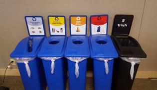 Improved infrastructure and clear, consistent labeling has helped engage employees and lodge guests about our efforts to reduce waste at the park, and how they can help. PHOTO CREDIT: Grand Teton Lodge Company