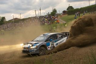 David Higgins claimed his third straight win of Susquehannock Trail Performance Rally.