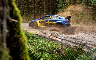 Travis Pastrana brought home his third consecutive victory to open the American Rally Association season at Olympus Rally in Washington state.