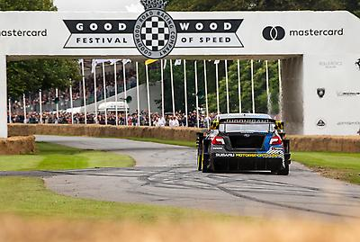 Subaru Motorsports USA and driver Travis Pastrana took second place overall at the 2021 Goodwood Festival of Speed Hillclimb Shootout, the competition debut for the Airslayer STI.