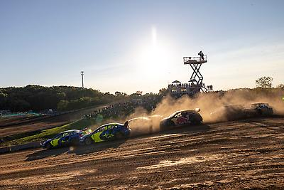 Subaru Motorsports USA earned an emphatic 1-2 finish at the second round of Nitro Rallycross at ERX Motor Park.