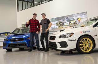 "Travis Pastrana and Blake ""Bilko"" Williams will take on the 2019 One Lap of America competition in matching Subaru WRX STI Type RA cars shod in Yokohoma ADVAN A052 tires."