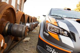 Bucky Lasek's signature orange is back on the #81 Subaru Rally Team USA rallycross car.