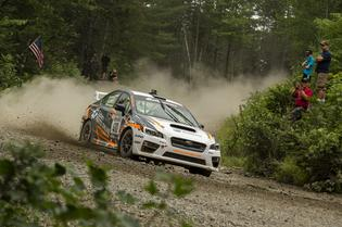Bucky Lasek put his Subaru Parts Online WRX STI on the podium at New England Forest Rally