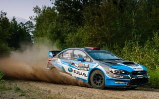 David Higgins and codriver Craig Drew dominated the 2018 Ojibwe Forests RallyPhoto credit: Alex Wong