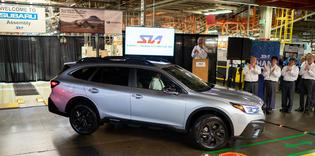 Subaru of Indiana Automotive begins production of all-new 2020 Legacy and Outback models on July 29, 2019.