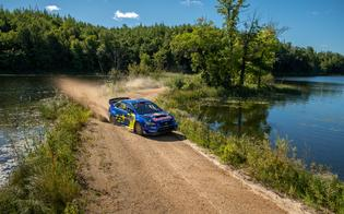 Brandon Semenuk, building his pace and experience in only his second event in the Open Class WRX STI, picked up his second consecutive podium with a third-place finish.