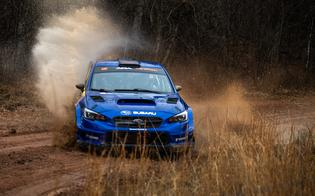 Subaru Motorsports USA driver Travis Pastrana and co-driver Rhianon Gelsomino took their second consecutive rally win at Missouri's 100 Acre Wood Rally, March 19-20.