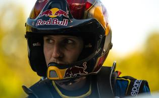 Brandon Semenuk prepares for one of Ojibwe Forests Rally's fast and challenging stages.